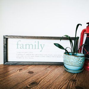 Family defined in a rustic farmhouse style